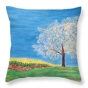Magical Wish Tree Throw Pillow