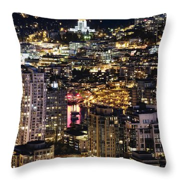 Throw Pillow featuring the photograph Magical Yaletown Harbor Mdxlix by Amyn Nasser