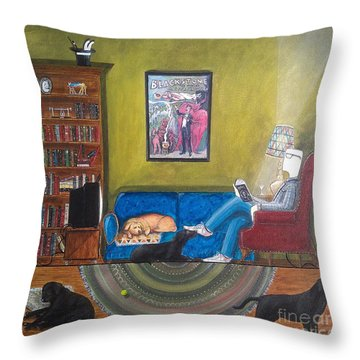 Magic's Room Throw Pillow by John Lyes