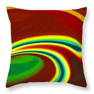Throw Pillow featuring the painting Magma  C2014 by Paul Ashby