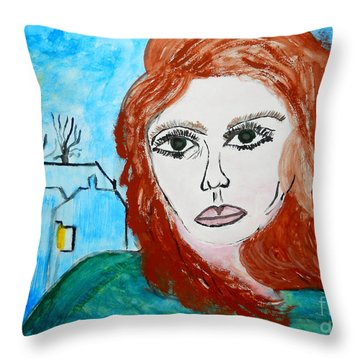 Magnetic Eyes Throw Pillow