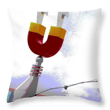 Magnetic Throw Pillow by Valerie Reeves