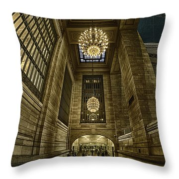 Throw Pillow featuring the photograph Magnificent Grand Central Terminal by Rafael Quirindongo