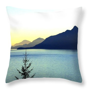 Magnificent Howe Sound Throw Pillow by Will Borden