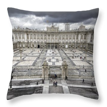 Magnificent Palace View Throw Pillow by Joan Carroll