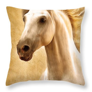 Magnificent Presence Horse Painting Throw Pillow