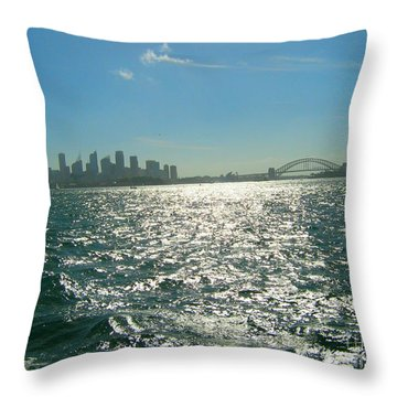 Throw Pillow featuring the photograph Magnificent Sydney Harbour by Leanne Seymour