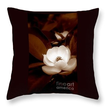 New Orleans Magnolia Beauty Throw Pillow by Michael Hoard