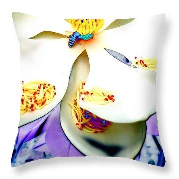 Magnolia Bee Throw Pillow
