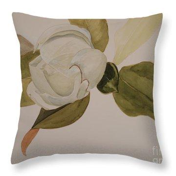 Magnolia California Throw Pillow by Nancy Kane Chapman