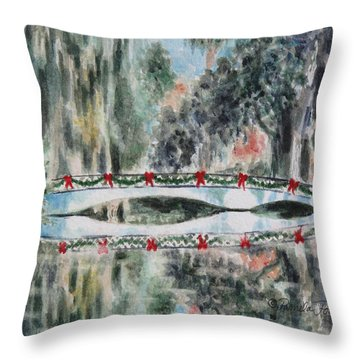 Magnolia Christmas Throw Pillow