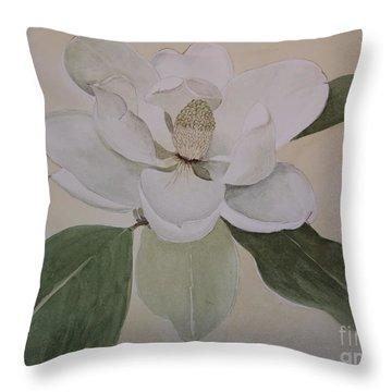Magnolia Delight Throw Pillow by Nancy Kane Chapman