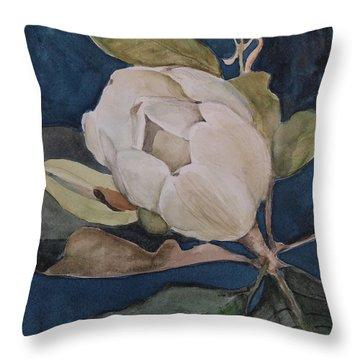 Magnolia Evening Throw Pillow by Nancy Kane Chapman