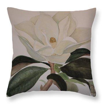 Magnolia Grandiflora Throw Pillow by Nancy Kane Chapman