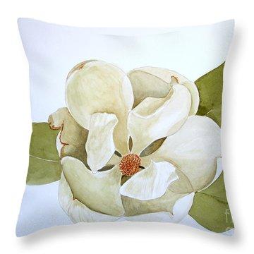 Magnolia Highlight Throw Pillow by Nancy Kane Chapman
