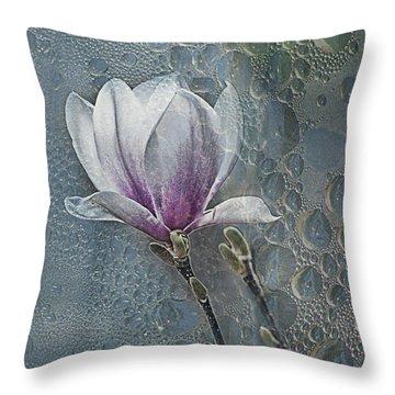 Magnolia Throw Pillow by Joachim G Pinkawa