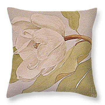 Magnolia Joy Throw Pillow by Nancy Kane Chapman