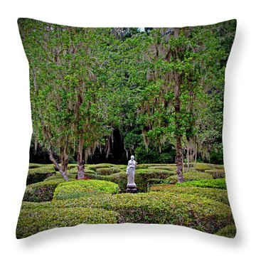 Throw Pillow featuring the photograph Magnolia Maze by Jean Haynes