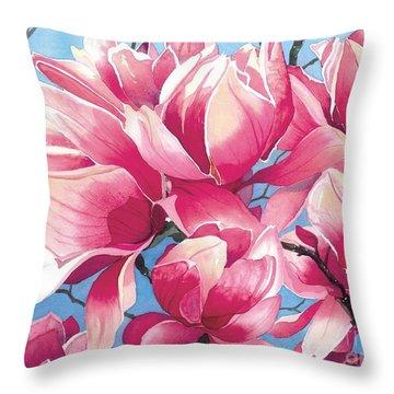 Magnolia Medley Throw Pillow