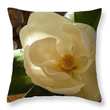 Magnolia Throw Pillow by Nancy Kane Chapman