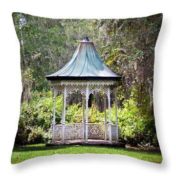 Throw Pillow featuring the photograph Magnolia Pavilion by Jean Haynes