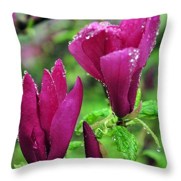Magnolia Throw Pillow by Randi Grace Nilsberg