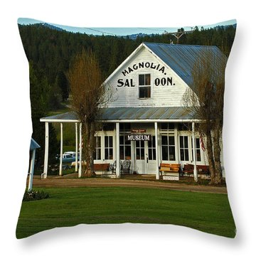 Magnolia Saloon Throw Pillow