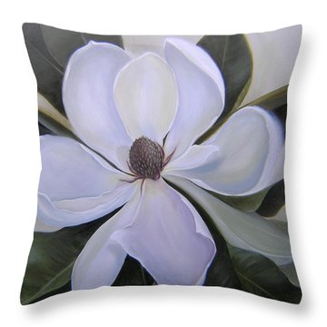 Magnolia Square Throw Pillow