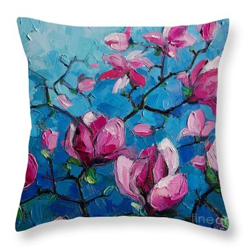 Magnolias For Ever Throw Pillow