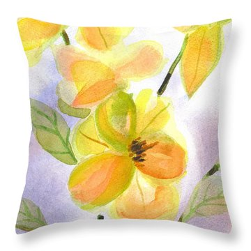 Magnolias Gentle Throw Pillow by Kip DeVore
