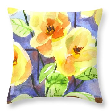 Magnolias Throw Pillow by Kip DeVore
