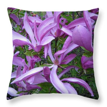 Throw Pillow featuring the photograph Magnolie by Susanne Baumann