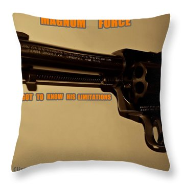 Magnum Force Custom Throw Pillow by Movie Poster Prints