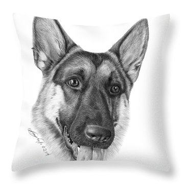 Magnus - 037 Throw Pillow by Abbey Noelle