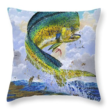Mahi Hookup Off0020 Throw Pillow by Carey Chen