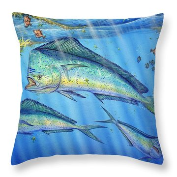 Mahi Mahi In Sargassum Throw Pillow