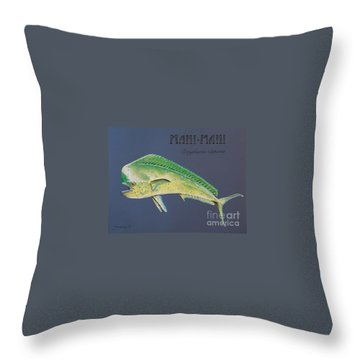 Mahi-mahi Throw Pillow