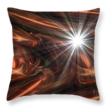 Mahogany Throw Pillow by Jacqueline Lloyd