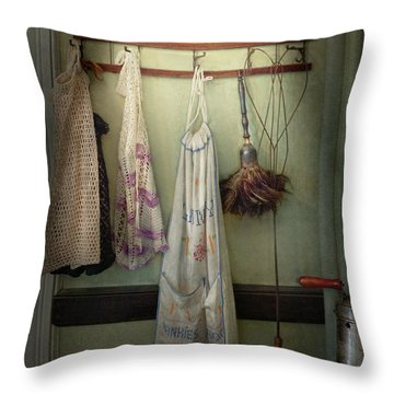 Maid - Always So Much Housework Throw Pillow by Mike Savad