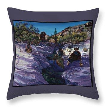 Maiden Pools Throw Pillow