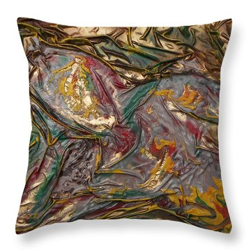 Maiden Reclining Throw Pillow by Angela Stout