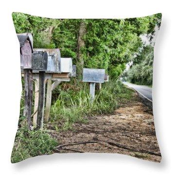 Mail Route Throw Pillow by Scott Pellegrin