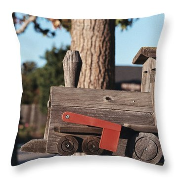 Mail Stop Throw Pillow by Caitlyn  Grasso