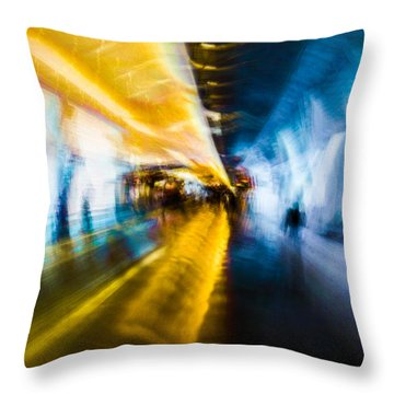 Throw Pillow featuring the photograph Main Access Tunnel Nyryx Station by Alex Lapidus