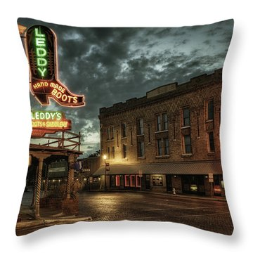 Main And Exchange Throw Pillow