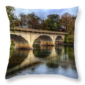 Main St Bridge Throw Pillow
