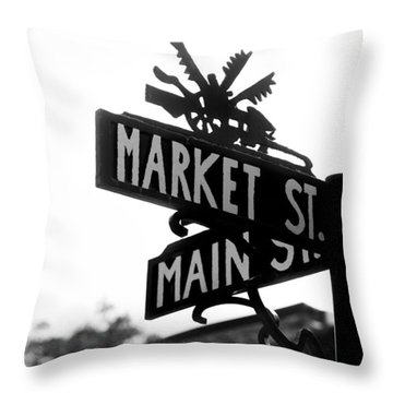 Main St Iv Throw Pillow
