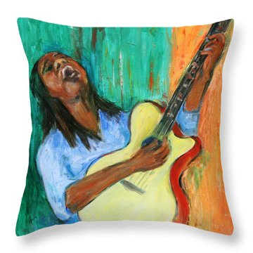 Main Stage I Throw Pillow by Xueling Zou