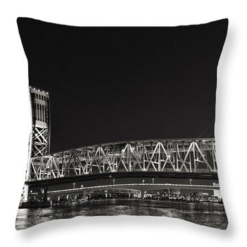 Main Street Bridge Jacksonville Florida Throw Pillow by Christine Till
