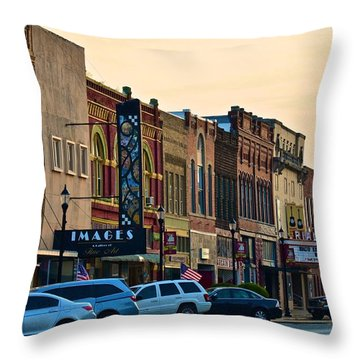 Main Street Denison Throw Pillow